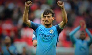 Silva Merayakan Kemenangan Usai Mengalahkan MU di Old Trafford/Foto Istimewa (@21LVA)