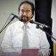Surya Paloh di atas Podium/Foto nusantaranews via haryphotography