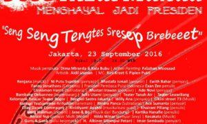 Taman Sastra Cikini - Jose Rizal Manua Menghayal Jadi Presiden/Poster acara by Ical Vigrar