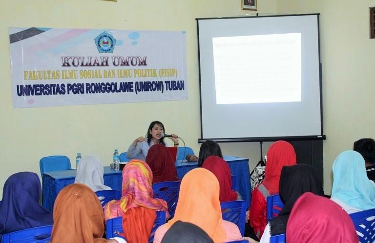 Humas PT Semen Indonesia Beri Kuliah di Fisip Unirow/Foto nusantaranews/Ainul