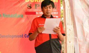Ketua SPMN Membacakan Pernyataan Sikap dalam Menyambut Hari Tani Nasional/Foto nusantaranews