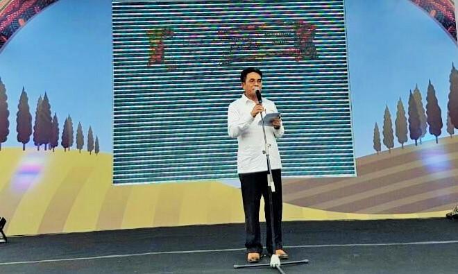 Dirjen Industri Agro Kemenperin Panggah Susanto pada acara Apresiasi Peternak 150 Tahun Nestlé di Malang, Jawa Timur, Sabtu (8/10)/Foto: dok. kemenperin