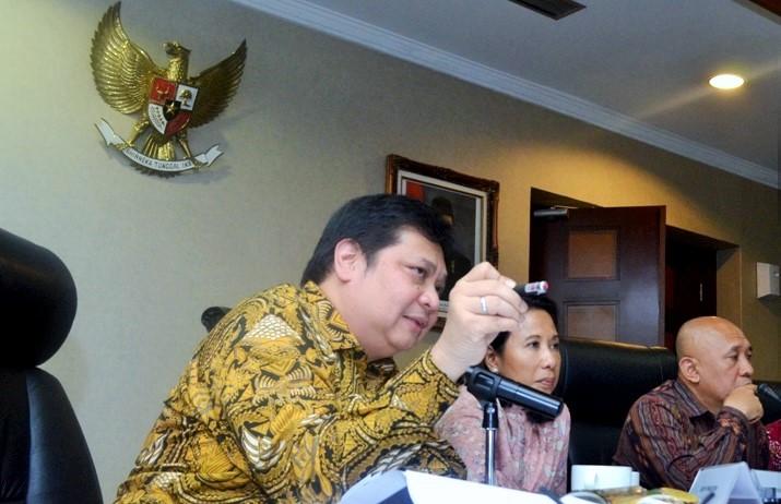 Menperin pada acara Pers Briefing 2 Tahun Kerja Nyata Jokowi-JK di Jakarta, Selasa (25/10)/Foto: Dok. Humas Kemenperin