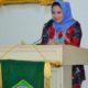 Sambutan penasihat Badan Kordinasi Organisasi Wanita (BKOW) Provinsi Lampung, Yustin Ficardo/Foto Istimewa