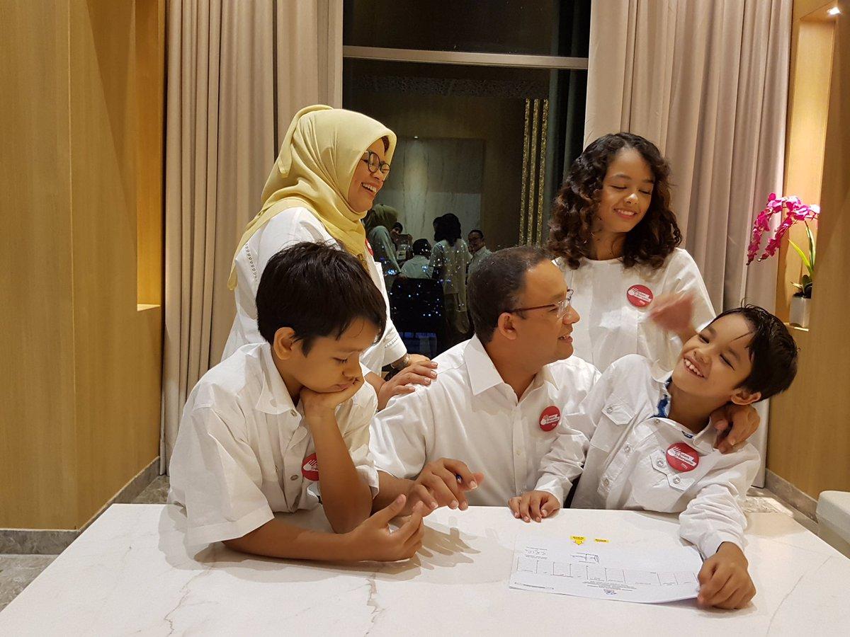 (Ilustrasi) Keluarga Anies Baswedan (Gubernur Terpilih Pilgub DKI 2017). Foto Istimewa/ @aniesbaswedan.