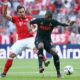 Berebut Bola Modeste dengan Pemain Bayern Munchen/Foto Emer