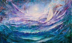 "Dario Campanile, ""Storm-Surge"", 36x48/Foto: Istimewa"