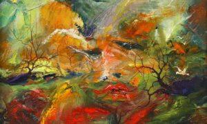 "Lukisan Dario Campanile ""Viso""/Ilustrasi: Istimewa"