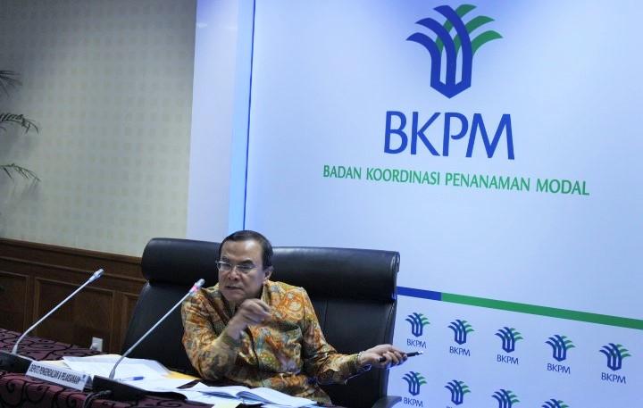 Deputi Bidang Pengendalian Pelaksanaan Penanaman Modal BKPM Azhar Lubis dalam konferensi pers paparan capaian realisasi investasi Triwulan III 2016 di kantor BKPM, Jakarta, Kamis(27/10/2016)/Foto Andika / Nusantaranews