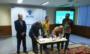 Penandatanganan nota kesepahaman antara Australia Indonesia Business Council (AIBC) dengan Banten Global Development (BGD) di Kantor BKPM, Jakarta, Senin, 10 Oktober 2016/Foto Andika / Nusantaranews
