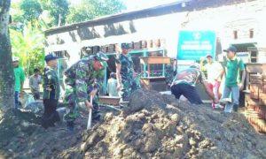 Karya Bakti TNI, Koramil 0824/14 Panti, Kodim 0824 Jember/Foto Sis24/nusantaranews