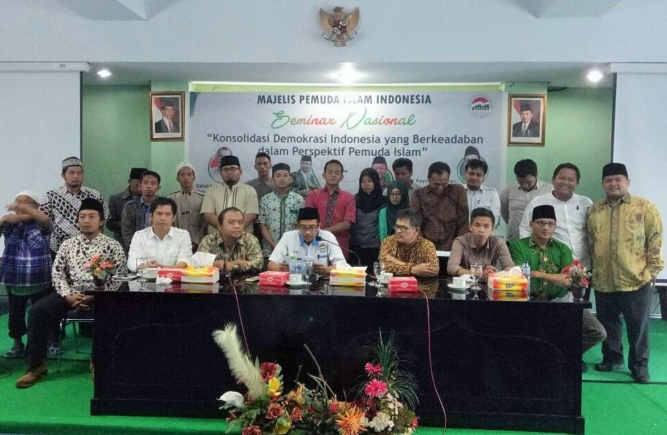 "Seminar Nasional dengan tema ""Konsolidasi Demokrasi Indonesia Yang Berkeadaban Dalam Perspektif Pemuda Islam"" oleh MPII/Foto: Dok. MPII"
