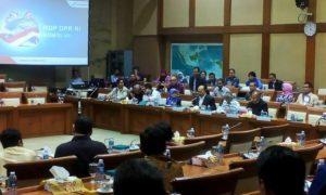 Suasana rapat dengar pendapat (RDP) Kementerian ESDM dengan Komisi VII DPR, di Gedung DPR RI Senayan Jakarta, Rabu (5/10)/Foto Andika/Nusantaranews