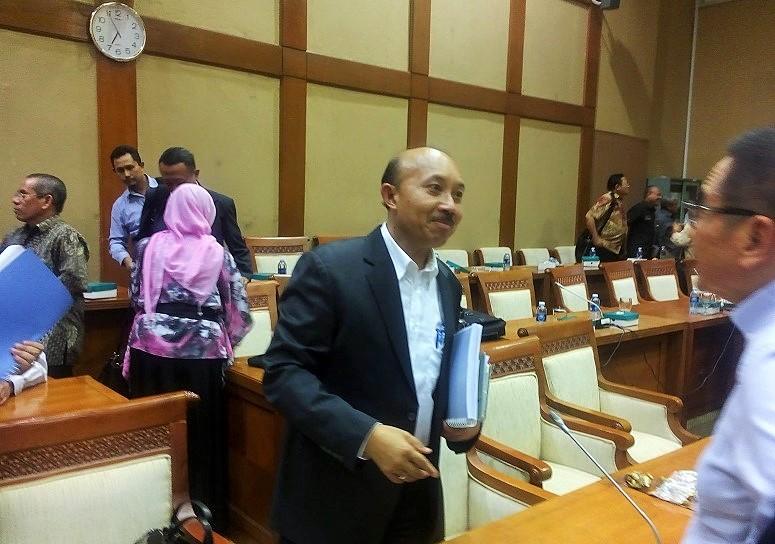 Ditjen Migas IGN Wiratmadja Puja usai rapat dengar pendapat (RDP) dengan Komisi VII DPR, di Gedung DPR RI Senayan Jakarta, Rabu (5/10)/Foto Andika/Nusantaranews