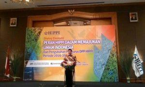 Airlangga Hartanto saat sambutan di acara Pengukuhan Pengurus DPP HIPPI (2016-2021) di Hotel Aryaduta Jakarta, Kamis (6/10)/Foto Andika/Nusantaranews