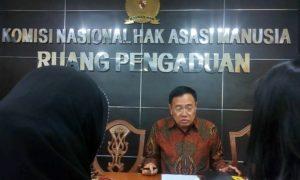 Anshori Sinungan, Wakil Ketua Komnas HAM/Foto Andika/Nusantaranews