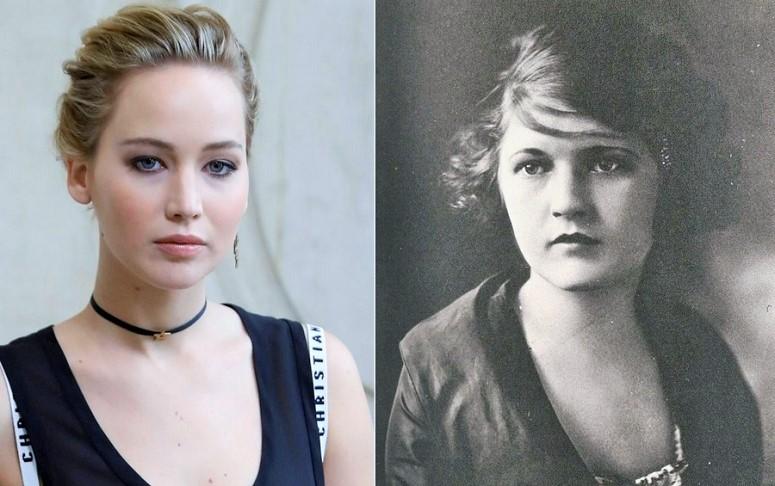 Jennifer Lawrence dan Zelda Fitzgerald/Foto: Dok. independet.co.uk