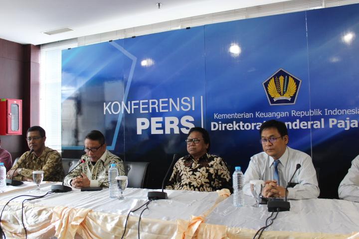 Konferensi Pers Kementerian Keuangan Republik Indonesia Direktorat Jendral pajak di di kantor Dirjen Pajak, Jakarta, Kamis (27102016). Foto Andik/Nusantaranews