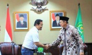 Menteri Agama Lukman Hakim Saifuddin terima Kunjungan IGI di ruang Kerjanya, Kamis (20/10)/Foto: Dok. Kemenag