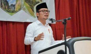 Menaker Sambutan di Gedung Serbaguna Politani, Payakumbuh, Sumatera Barat, Jumat (7/10)/Foto: Dok. Kemnaker