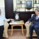 Airlangga Hartarto usai melakukan pertemuan dengan Duta Besar Jerman untuk Indonesia, MichaelFreiherr von Ungern-Sternberg. di Jakarta, Rabu (5/10)/Foto: Dok. Kemenperin