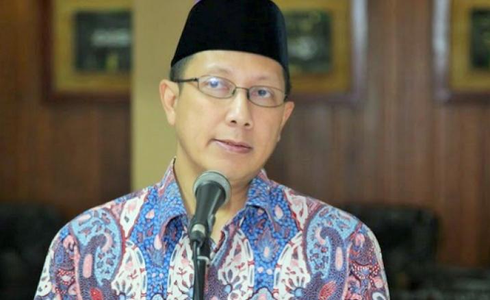 Menteri Agama Lukman Hakim Saifuddin saat sambutan di acara Gebyar Hari Santri Nasional/Foto: Konfrontasi