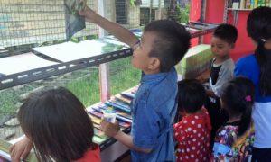 Gairah membaca anak-anak Nunukan/Foto ES/nusantaranews