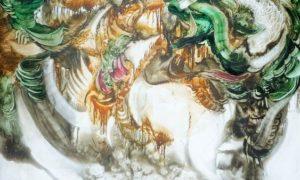 "Lukisan ""Sedekah Bumi"", Sedekah Bumi Media : Cat minyak diatas kanvas Tahun : 2006/Foto/Lukisan: dok http://nugrowantoro71.blogspot.co.id"