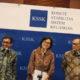 Sri Mulayani bersama jajaran kementrian keuangan saat siaran pers. Foto: andika/nusantaranews