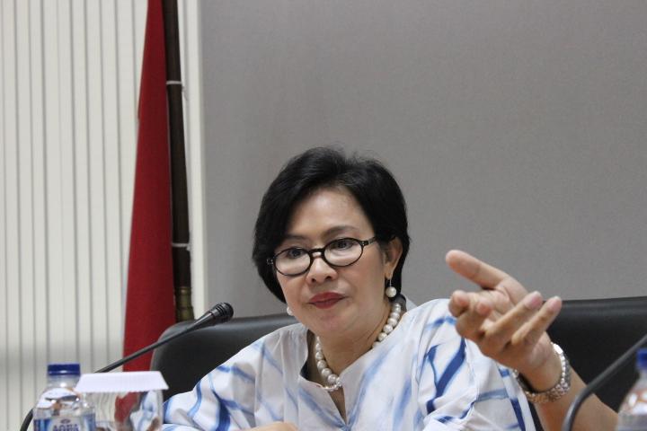 Wakil Ketua Umum bidang CSR dan Persaingan Usaha Kamar Dagang dan Industri (Kadin) Indonesia, Suryani Motik. Foto: Andika/Nusantaranews