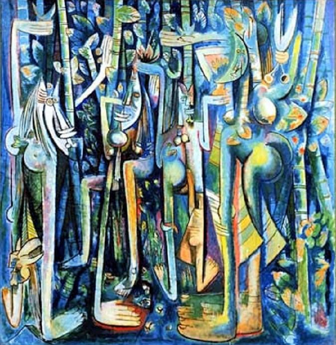 """Lukisan Wilfredo Lam """"The Jungle Surealisme""""/Istimewa"""