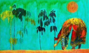"Lukisan ""Jagad Bumi"", 300 x 200 cm (2009)/Foto: Dok. sangkringartspace.net"