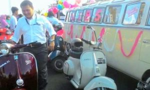 Kendaran Klasik yang digunakan Cagub Anies Saat Kampanye Damai di Monas/Foto: Viva.co.id