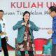Menko PMK, Puan Maharani saat memberikan kuliah umum tentang revolusi mental di Universitas Negeri Lampung (UNILA) kota Bandar Lampung, Kamus (3/11)/Foto; Dok. Humas Kemenko PMK