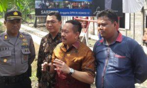Anggota Komisi VI DPR RI Sartono Sedang Lakukan kunjungan ke Ngawi. Foto Moh. Nurcholis/Nusantaranews