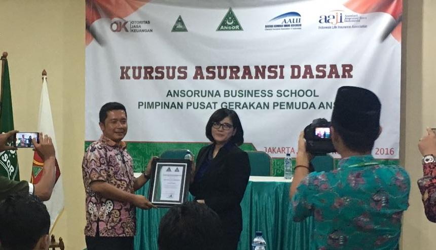 Ansoruna gelar kegiatan kursus asuransi dasar di Jakarta. Foto Ibnu Mufid/Nusantaranews