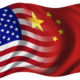 Bendera Amerika dan Cina menyatu. Foto Ilustrasi IST