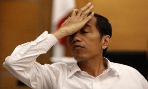 Ekpresi Presiden Joko Widodo. Foto IST
