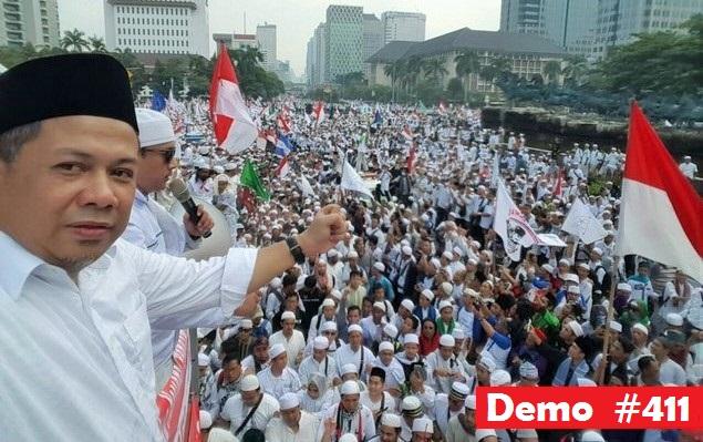 Fahri Hamzah saat Demo 4 November 2016/Foto: Istimewa