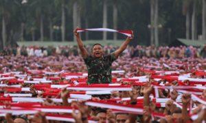Gemuruh Aksi Nusantara Bersatu di Monumen Nasional. Foto via Timothy Marbun