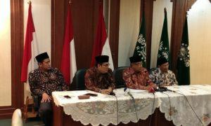 Jumpa Pers PBNU menyikapi situasi Kebangsaan Terkini, di PBNU, Kamis (17/11)/Foto Hatiem / NUSANTARAnews