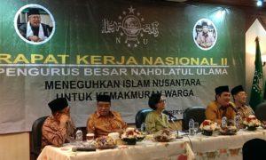 """eminar pembukaan Rakernas ke II PBNU yang bertema """"Meneguhkan Islam Nusantara Untuk Kemakmuran Warga""""/Foto Hatiem / NUSANTARAnews"""