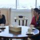 Menteri Susi Pudjiastuti dengan Menteri Infratruktur dan Lingkungan Hidup Kerajaan Belanda Melanie Schultz van Haegen usai pertemuan bilateral di Kantor KKP Jakarta, Senin (21/11)/Foto: dok Humas KKP