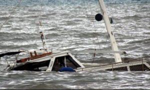 Kapal TKI Tenggelam di Kepulauan Riau. Foto via pojoksatu