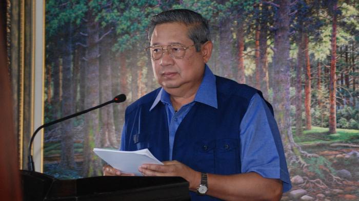 Susilo Bambang Yudhoyono Saat Konferensi Pers 4 November 2017. (Foto: Istimewa)