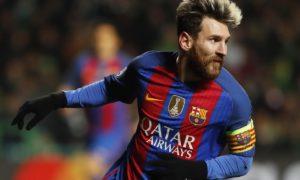 Mega Bintang Barcelona Leonel Messi Lakukan Selebrasi. (Foto Dok. Leo Messi)