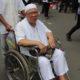 Menggunakan Kursi Roda Tak menyurutkan Bapak yang satu Ini untuk Ikut Aksi Damai 4 November. Foto Andika/Nusantaranews