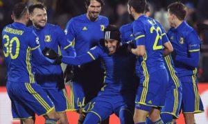 Para pemain FC Rostov Rayakan kemenangan usai taklukkan Munchen 3-2. Foto Sky Sport
