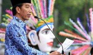 Presiden Joko Widodo atau Jokowi mengapresiasi peringatan HUT ke-45 KORPRI. Foto Dok. Setkab