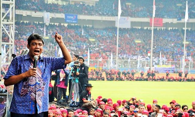 Presiden Konfederasi Serikat Pekerja Indonesia (KSPI) Said Iqbal/Foto: dok. Wartabuana